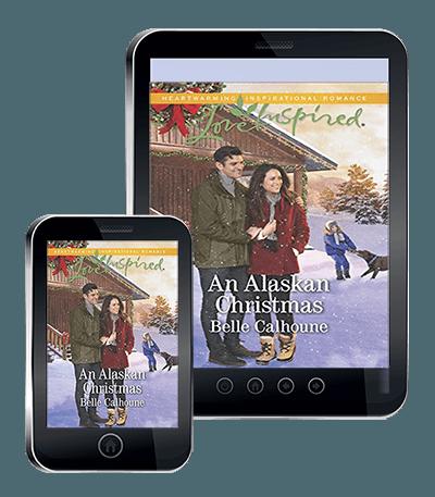 Book cover for An Alaskan Christmas, by Belle Calhoune